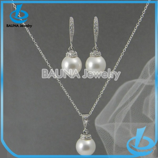 Simple pearl jewelry sets african jewelry set wedding