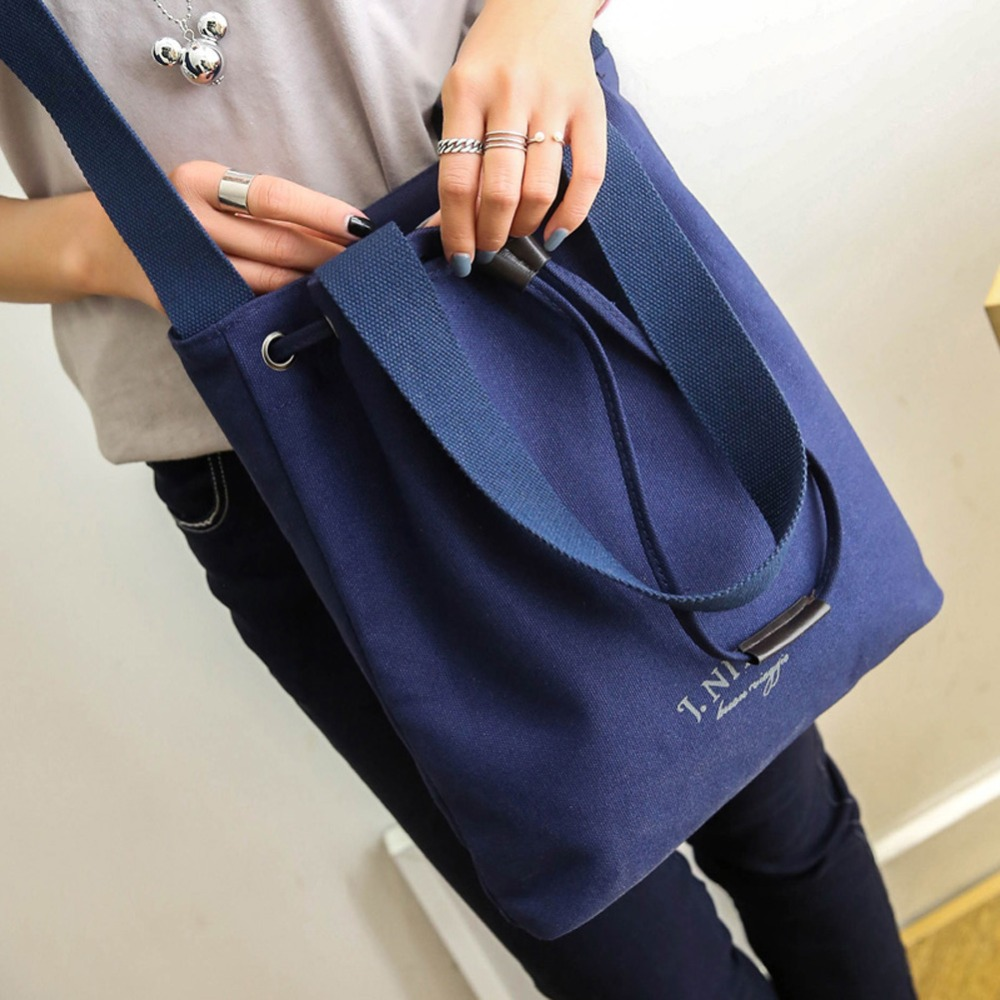 59a11d1c9e94 2018 Hot Sale Korean Style Canvas Handbag Women Shoulder Bag Fashion Casual  Bags