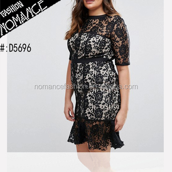 Black Lace Party Formal Dress Patterns For Plus Size Fat Women - Buy Black  Party Dress For Fat Women,Fat Women Lace Dress Patterns,Lace Formal Dress  ...