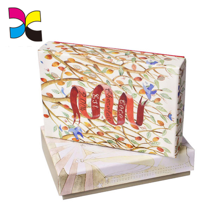 Custom Design CMYK Color Clear Plastic Packaging Chocolate Box