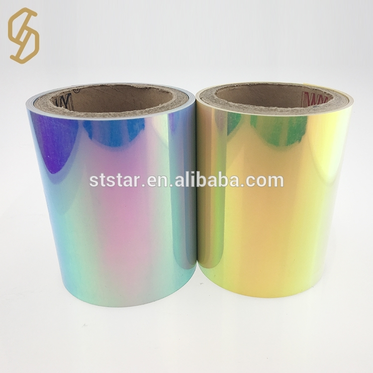 Wholesale rainbow color pet sequin film rolls made in China