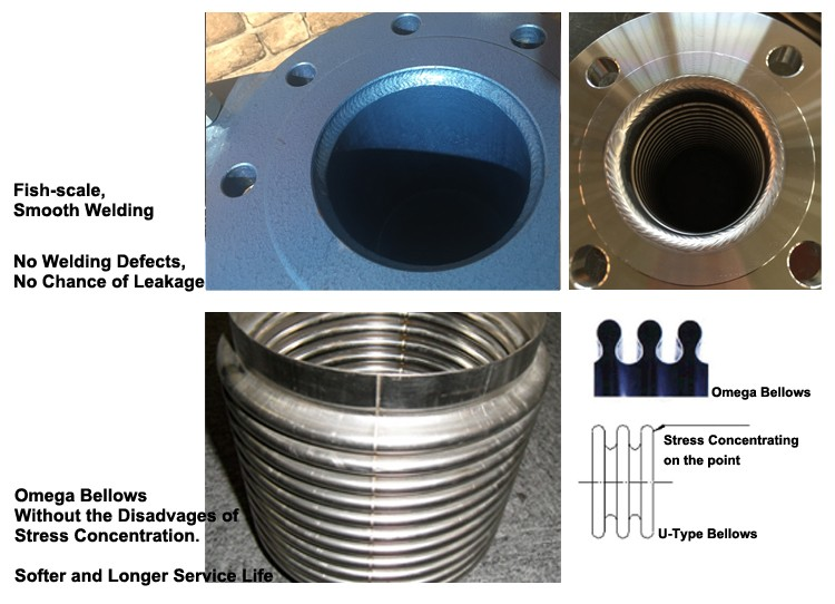 Anti-vibration Flexible Stainless Steel Pipe Integral Flange Makes Strong And Durable