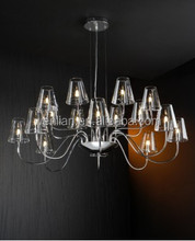 Clear Glass Shade Chandelier Created Fresh Vision