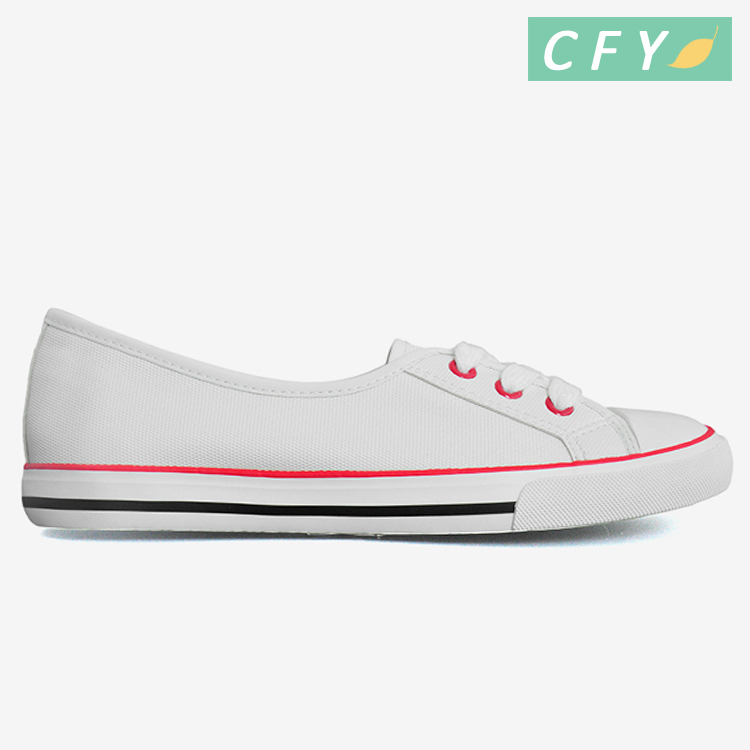 2018 hot sale white canvas slip-on shoes wholesale casual vulcanized espadrille flats footwear women daily wear comfortable shoe