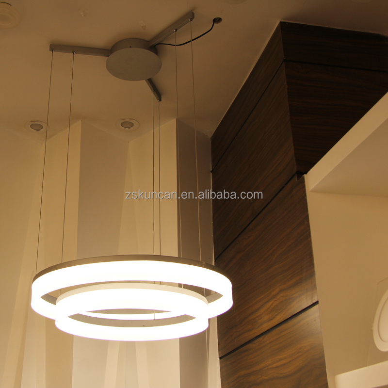 Modern Double Ring Round Smart Hanging Light Fixtures