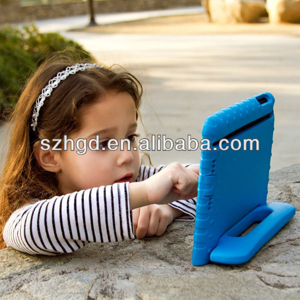 for ipad mini 2 new tablet cover Child Kid Proof Soft EVA Foam Light Blue Case Cover