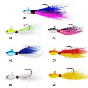 Wholesale fishing jig teasers lure saltwater 1oz 2oz 3oz 4oz 6oz High Quality bucktail Jig Head