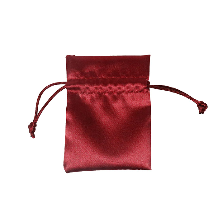 High Quality Silk Jewelry Gift Dust Pouch Drawstring Small Satin Bag