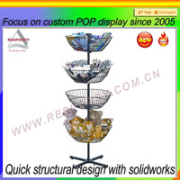 four tier metal bowl ornament display tree