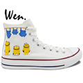Wen Design Custom Hand Painted Shoes Minions Bare Bottom Despicable Me Men Women s High Top