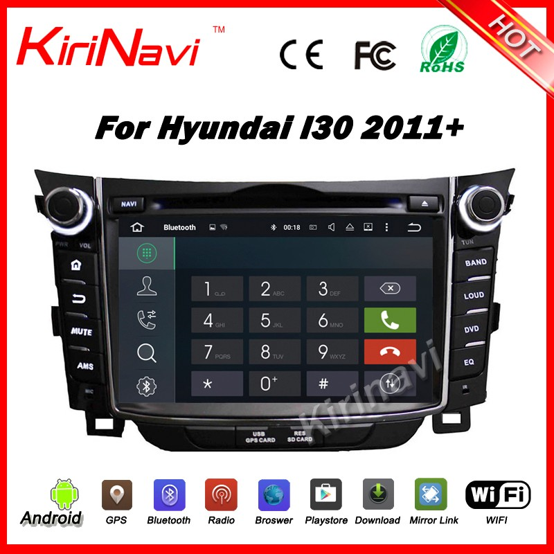 "Kirinavi WC-HI7028 android 5.1 7"" car navigation dvd for hyundai i30 2011-2016 car multimedia player gps radio stereo system"