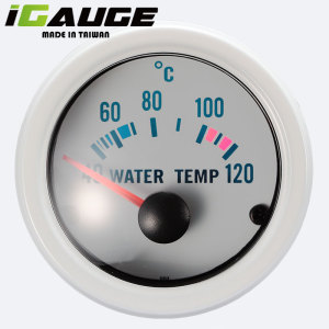 High Quality Waterproof 52mm Chrome Rims ISO Yacht Pointer Water Temperature Meter Gauge