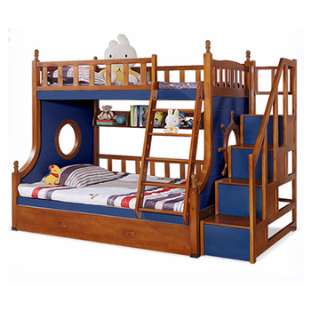 Hot Sale Solid Wood Quality Assurance Children Bunk Beds With Slide