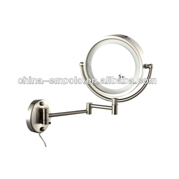 Hotel Bathroom Wall Mounted Magnifying Mirror Lighted Makeup Mr8008