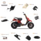 Hot sale wholesale sunny 50cc jog scooter indian motorcycle plastic spare parts