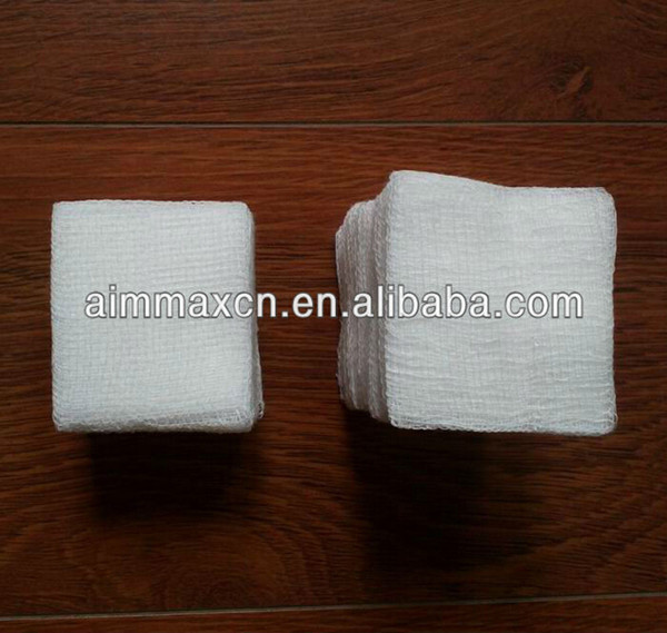CE ISO FDA sterile machine folded medical absorbent gauze swabs