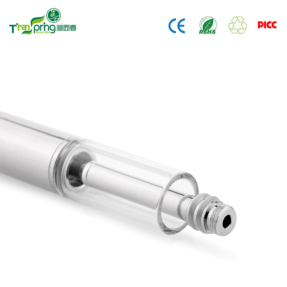 The newest products wholesale cbd oil cartridge 510 glass tank ceramic atomzer CBD vape pen