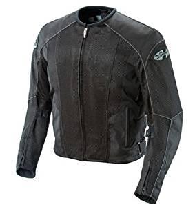 Joe Rocket Mens Phoenix 5.0 Mesh Textile Motorcycle Jacket Black/Black Medium M