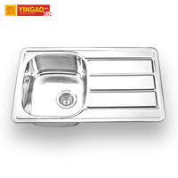 Foshan Manufacturer CUPC Single Bowl 304 Stainless Steel Kitchen Sink