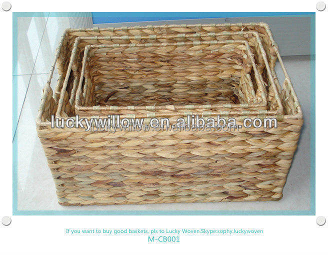 homes storage Handwoven Medium Tapered straw basket weaving
