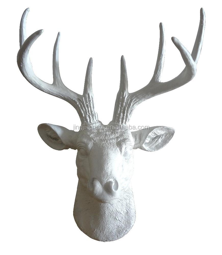 Mini resina cabeza de ciervo cabeza de ciervo astas de los ciervos animal cabeza de montaje en - Cabeza de ciervo decoracion ...