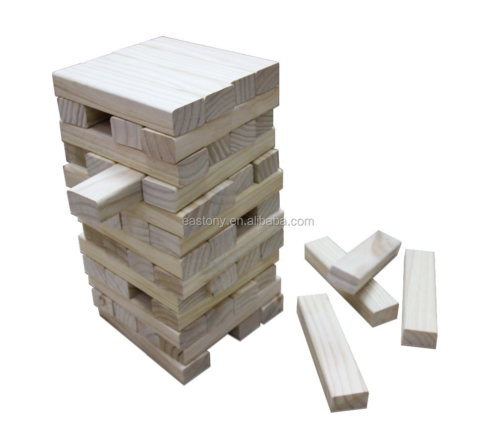 Big size jenga ,outdoor game wooden giant jenga