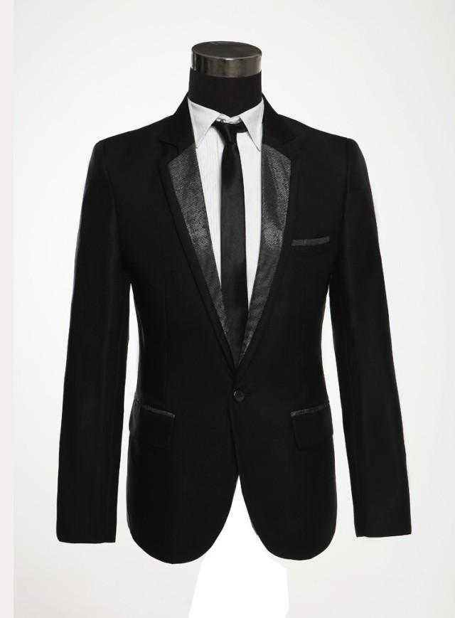 Buy 2015 New Spring Autumn Men Suit Black Tuxedos For Men Fashion ...