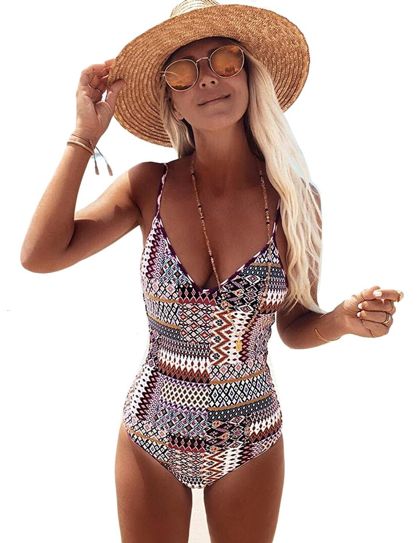 462338b901801 Get Quotations · Meflying Swimsuits for Women one Piece Bikini high Waisted  Women Swimming monoki Plus Size Women Swimming