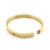 Stock Stainless Steel 18K Gold Silver And Rose Gold Hinge Bangle For Women