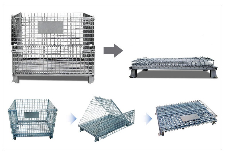 Industrial Foldable Wire Mesh Container for Sale