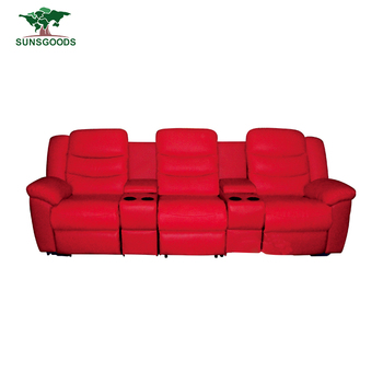 High Quality 3 Seater Leather Power Electric Recliner Sofa For