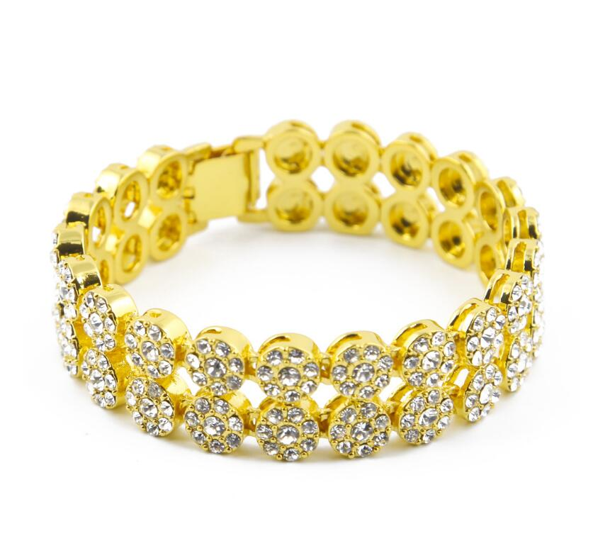 Hip Hop Style Saudi Gold Jewelry Men Gold Bracelet Designs For Men