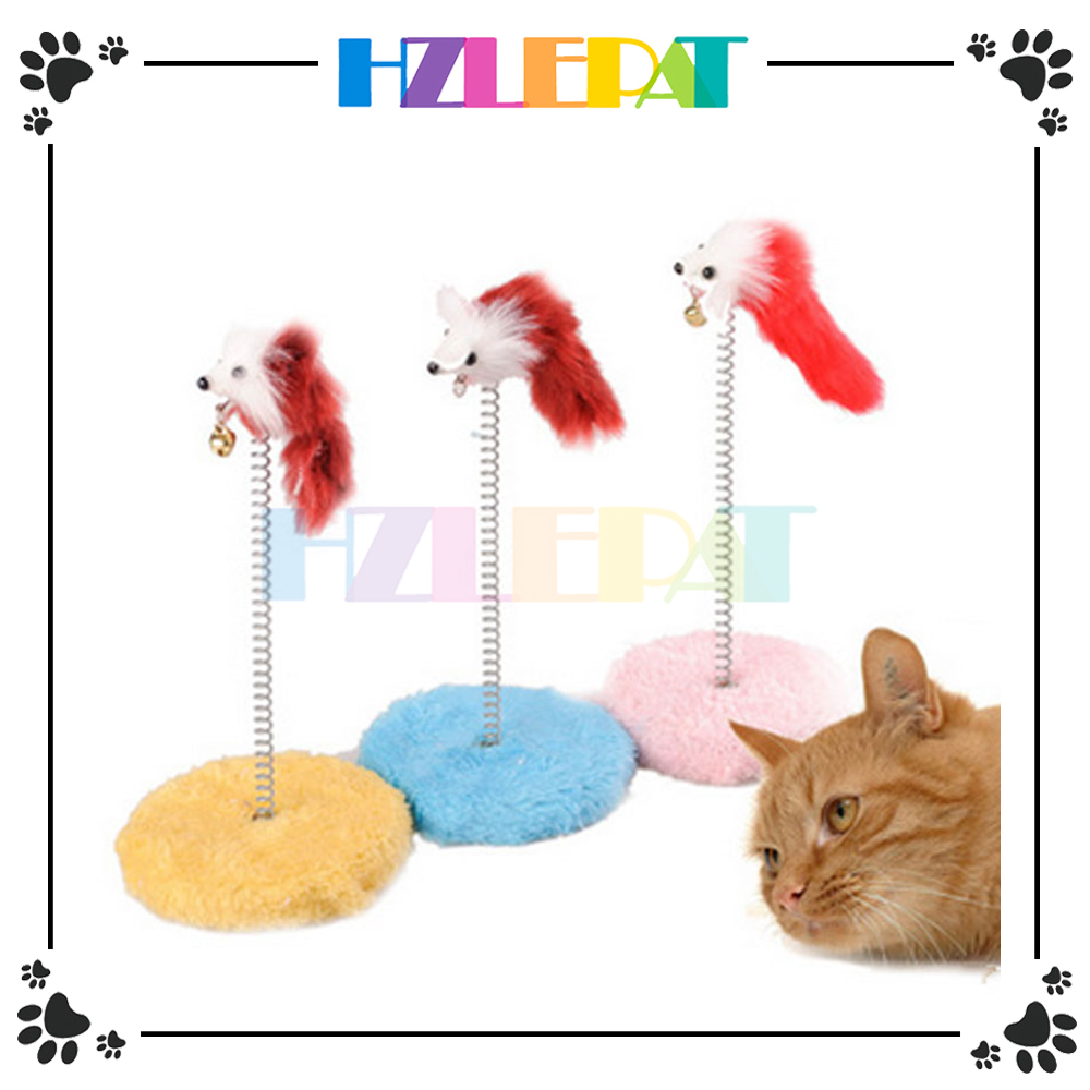 Mouse Ball Toy Plate Cat Sticks Toys Pet Frame Spring Bells Scratching Pad