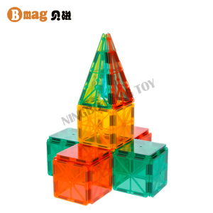 Welcome OEM intellect toys plastic clear magnetic blocks kids for building
