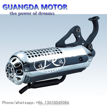 High Quality Black And Silver Modified Motorbike Muffler Stainless Steel Environmental Protection Muffler For HONDA ZX50