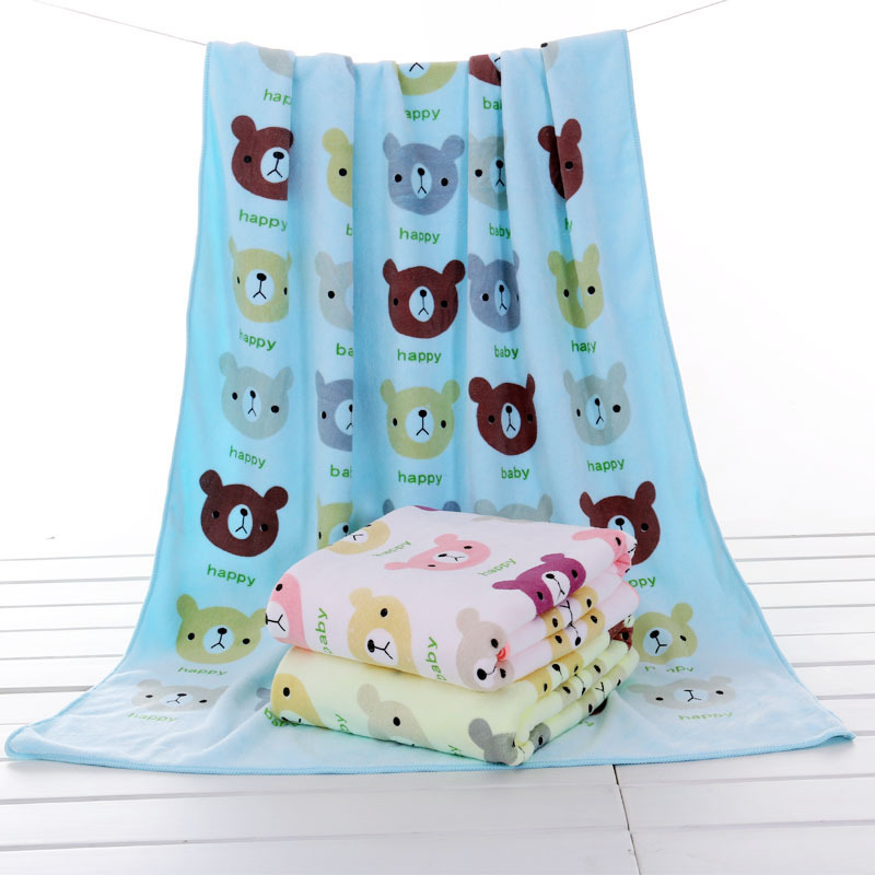 New Fashion Towels Soft Cotton Towels For Boy Girl Animal Prints Infant Towel High Quality Bath