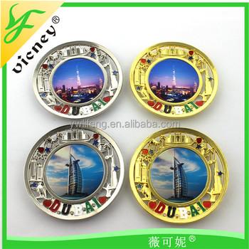 Customized Souvenir Magnets / Magnetic Fridge Acrylic Dubai Fridge Magnet