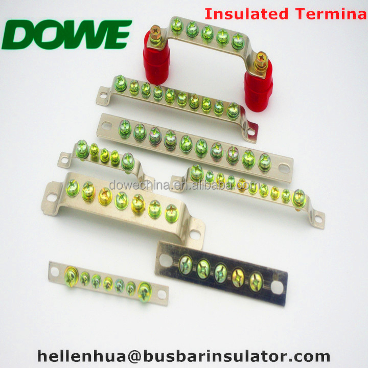 china supplier 5P 7P 10P copper earthing busbar