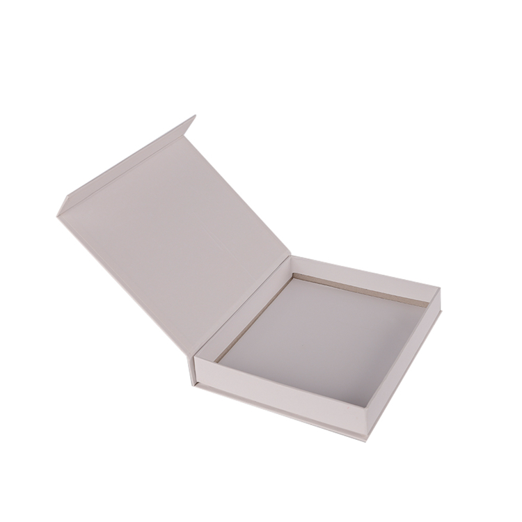 Hot sale luxury embossing white cardboard folding flap top boxes magnetic closure box gift box packaging custom logo