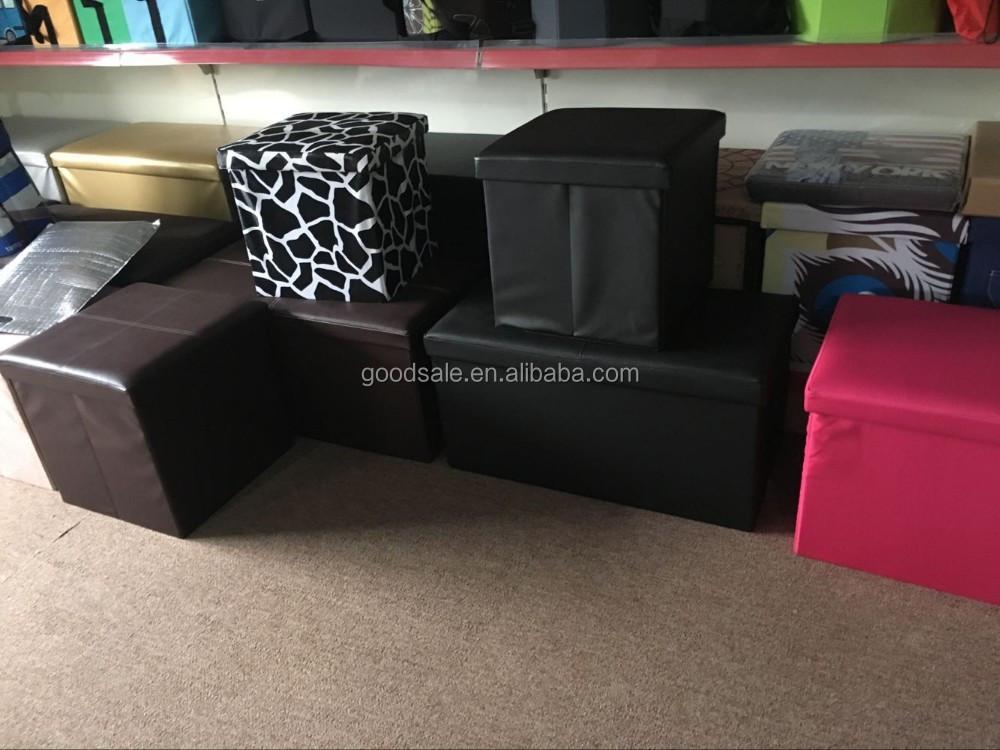 Dormitorio Decorativo Plegable Cubo Otomano Banco De Almacenamiento ...