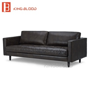 American style genuine leather sofa set furniture design