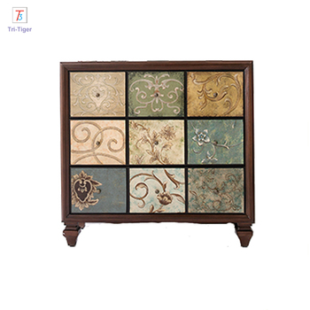 Chinese Antique Asian Furniture Painted Wedding Cabinet Painting Antique  Cabinet