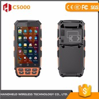 Trade assurance Fashion-design handheld C5000 rugged ip65 android 4g bluetooth pda