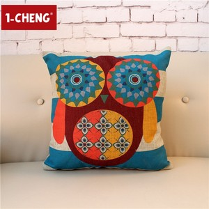 Owl Printed Cushion Pillow Home Sofa Decorative Cushion Cover Office Chair Seat Cushion