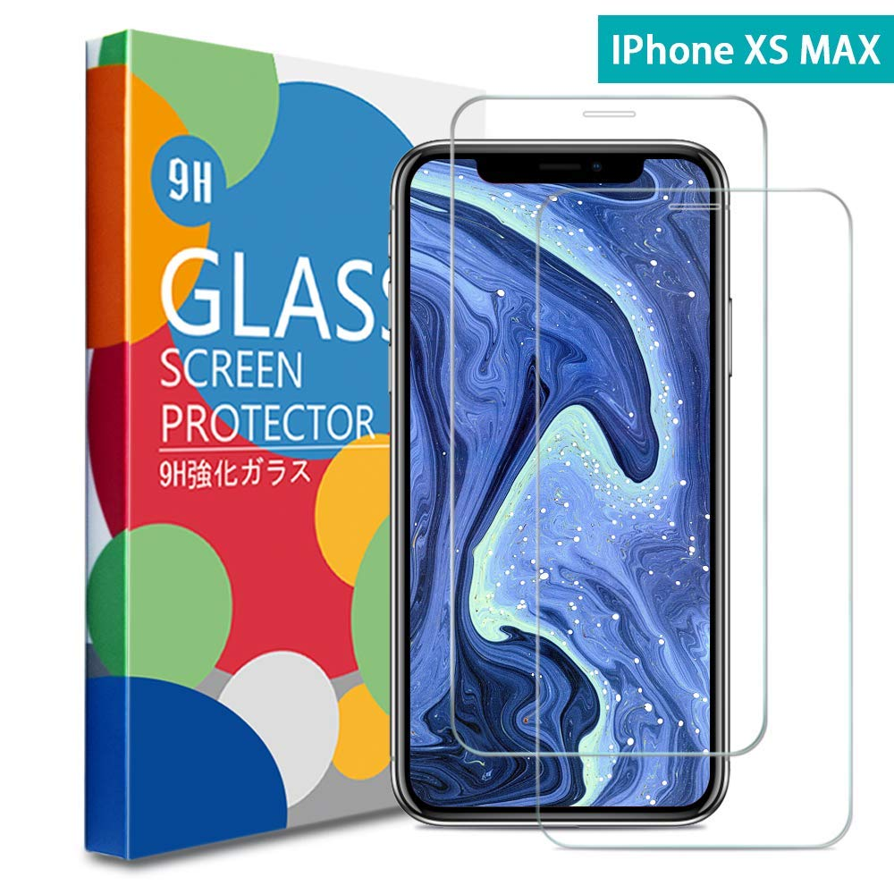Liaointec Screen Protector Compatible for iPhone Xs Max 6.5 inch (2018), [2-Pack] [Case Friendly] [Anti-Fingerprint][No Bubble] 3D Cured Tempered Glass Screen Protector Compatible for iPhone Xs Max
