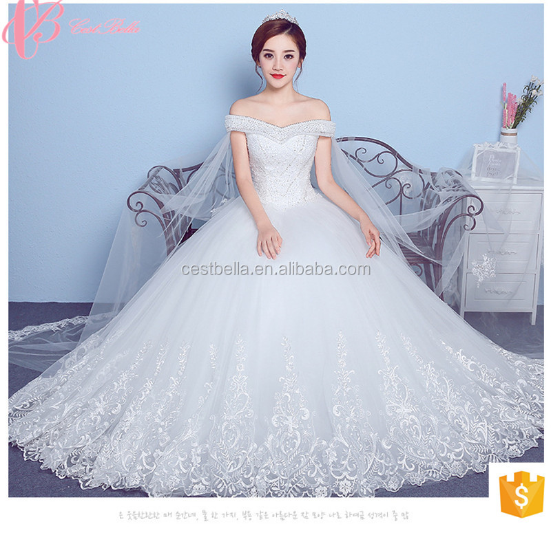2017 High Quality Gorgeous Under 100 Lace Appliqued Women Wedding Dress Gown Guangzhou