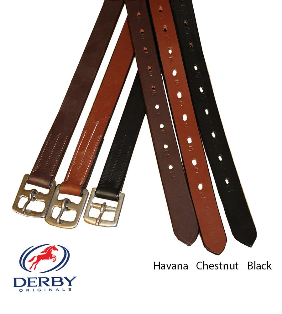 Derby Originals Premium English Stirrup Leathers Adult, Chestnut