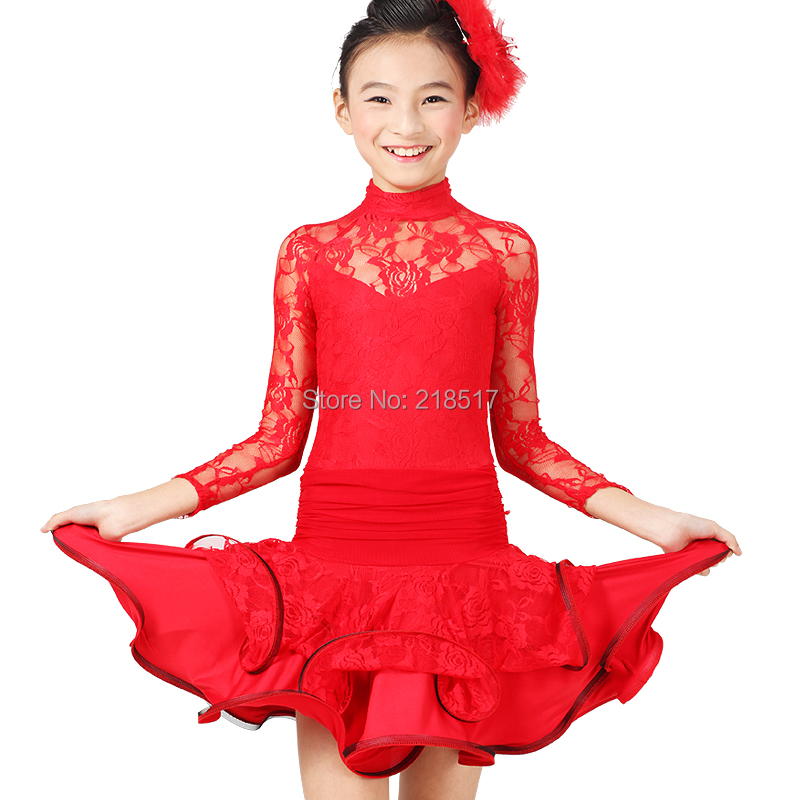 a258cdf3a Buy S-XXL Little Girl Latin dance dancing dress clothes lace Latin ...