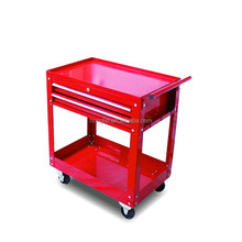 2-drawer utility auto shop roller metal tool cart