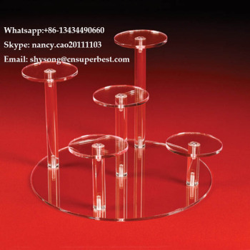 Good quality cheap price customized acrylic round platform risers